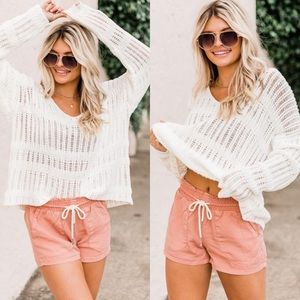 Pink Lily NEW Explore The Coast Clay Shorts